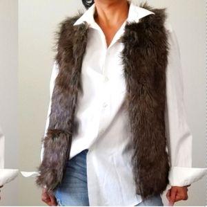 Miss London Faux Fur Brown Medium